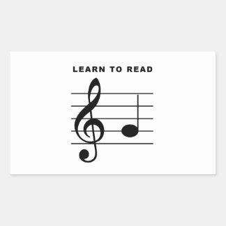 Learn To Read - Treble Clef Rectangular Sticker