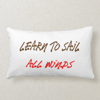 learn to sail all winds custom throw pillow design