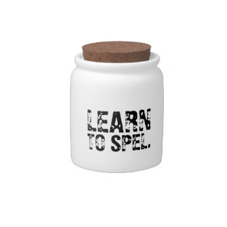 LEARN TO SPEL. CANDY JARS