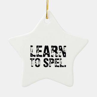LEARN TO SPEL. CHRISTMAS ORNAMENT