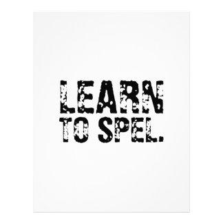 LEARN TO SPEL. LETTERHEAD TEMPLATE