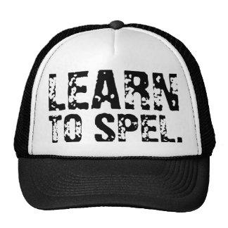 LEARN TO SPEL. MESH HATS