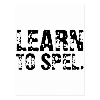 LEARN TO SPEL. POST CARDS