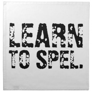 LEARN TO SPEL. PRINTED NAPKINS