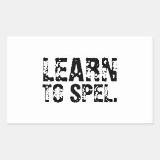 LEARN TO SPEL. STICKER