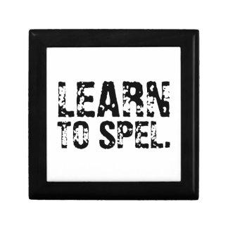 LEARN TO SPEL. TRINKET BOX