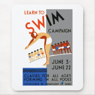 Learn To Swim Mouse Pad