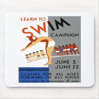 Learn To Swim Mouse Pads