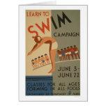 Learn To Swim NYC 1940 WPA Card