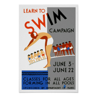 Learn To Swim Posters