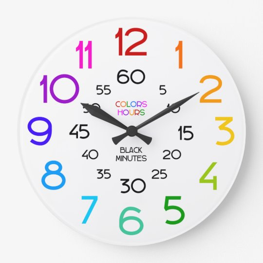 Learn to Tell Time Classroom Wall Clock for Kids