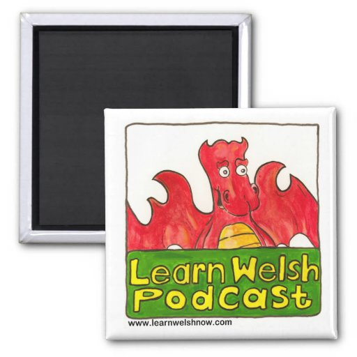 Learn Welsh Podcast Logo Magnet