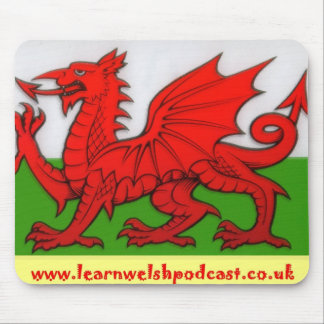 Learn Welsh Podcast Mouse Mat Mouse Pad
