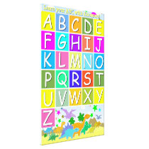 Learn your ABC With Dinosaurs Alphabet Canvas Print