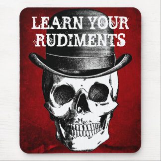 LEARN YOUR RUDIMENTS DRUMMER MOUSE PAD