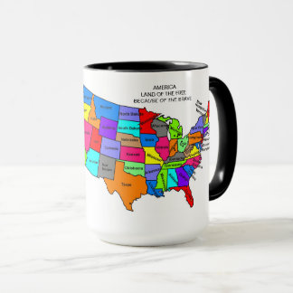 Learn Your States15oz United Stated Mug By Zazz_it