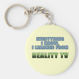 Learned from Reality TV Keychain
