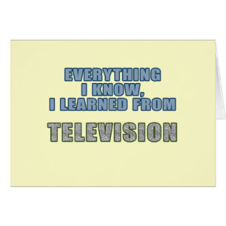 Learned from Television Card