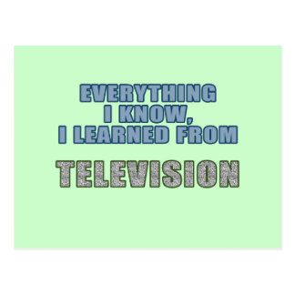 Learned from Television Postcard