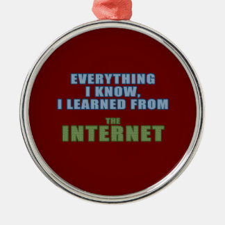 Learned from the Internet Christmas Ornament