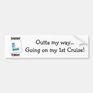 Learner Cruiser Car Bumper Sticker