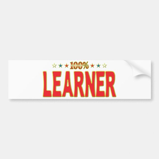 Learner Star Tag Bumper Stickers