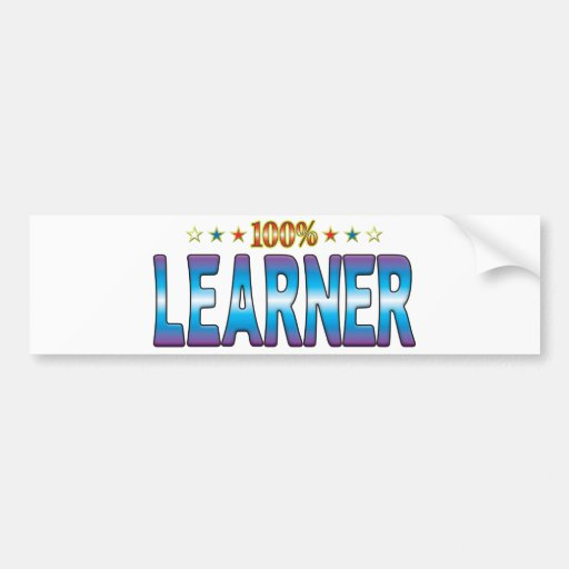 Learner Star Tag v2 Bumper Stickers
