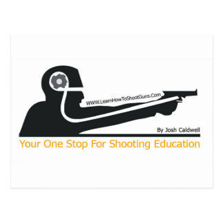 LearnHowToShootGuns clothing gear and products Postcards