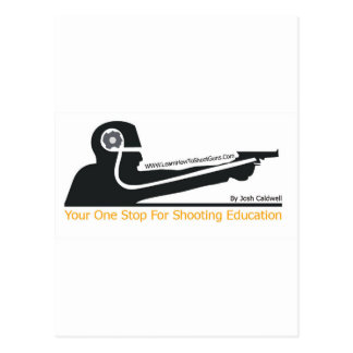LearnHowToShootGuns clothing gear and products Post Card