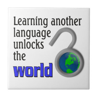 Learning another language unlocks the world tile