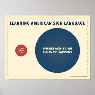 Learning ASL. A venn diagram poster. Poster