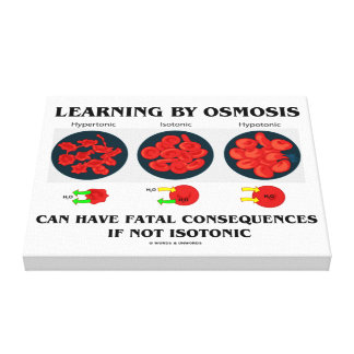 Learning By Osmosis Fatal Consequences (Biology) Canvas Print