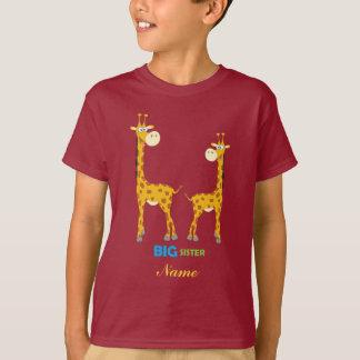 Learning Candy Big Sister Giraffe Personalized T-Shirt