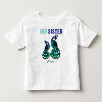 Learning Candy Big Sister Peacock Personalized Toddler T-shirt
