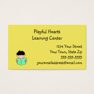 Learning Center Business Cards