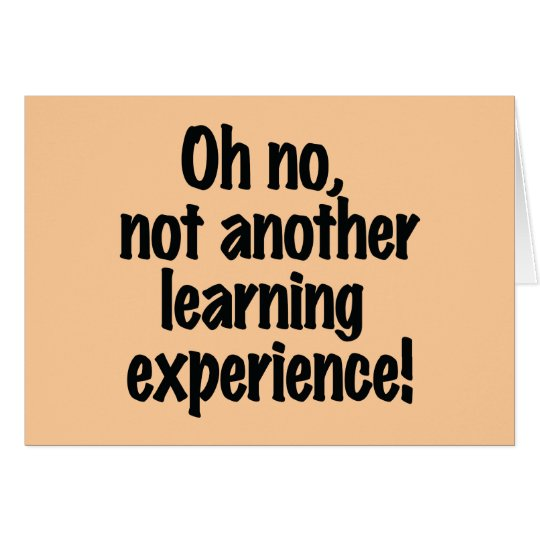 Learning Experience Card