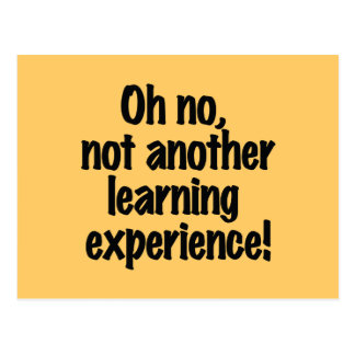 Learning Experience Postcard