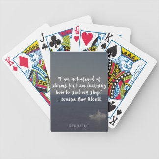 """Learning How to Sail My Ship"" Cursive Quote Bicycle Playing Cards"
