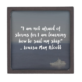 """Learning How to Sail My Ship"" Cursive Quote Gift Box"