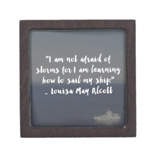 """Learning How to Sail My Ship"" Cursive Quote Jewelry Box"