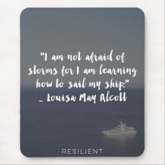 """Learning How to Sail My Ship"" Cursive Quote Mouse Pad"