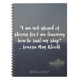 """Learning How to Sail My Ship"" Cursive Quote Notebook"