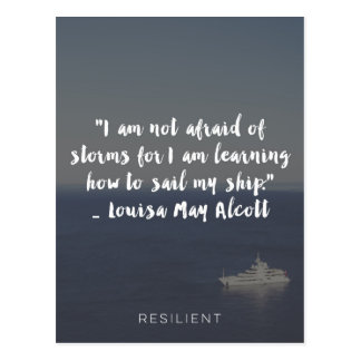 """Learning How to Sail My Ship"" Cursive Quote Postcard"