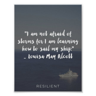 """Learning How to Sail My Ship"" Cursive Quote Poster"