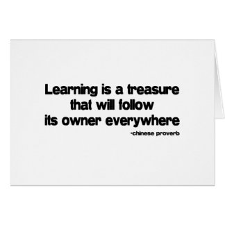 Learning is a Treasure quote Card