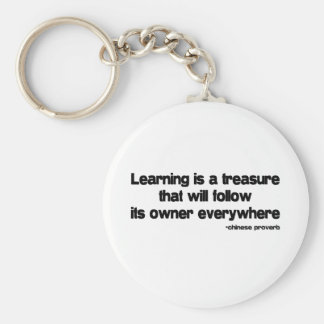 Learning is a Treasure quote Keychain