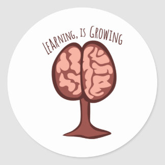 Learning, Is Growing Classic Round Sticker
