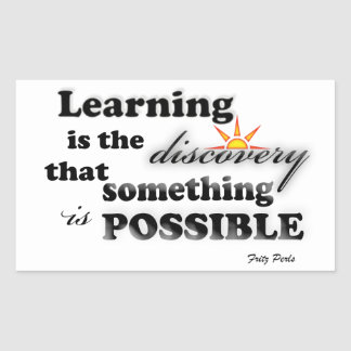 Learning is the... rectangular stickers