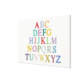 learning, letters, alphabet canvas print