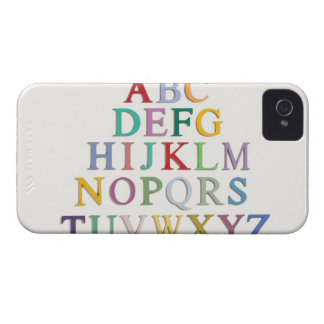 learning, letters, alphabet iPhone 4 Case-Mate case